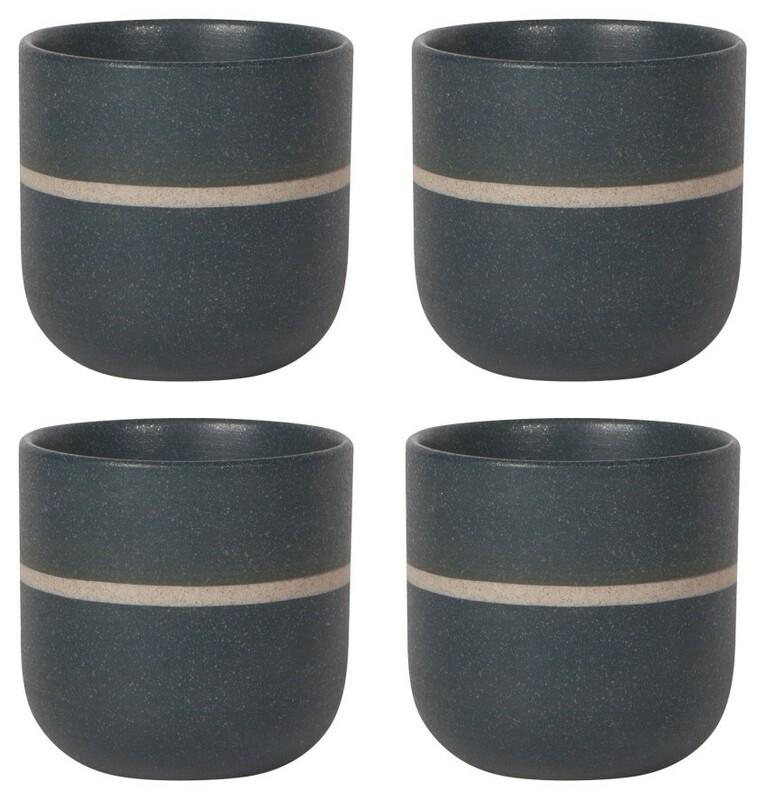 Now Designs Orb Teacups Set of 4 | Navy