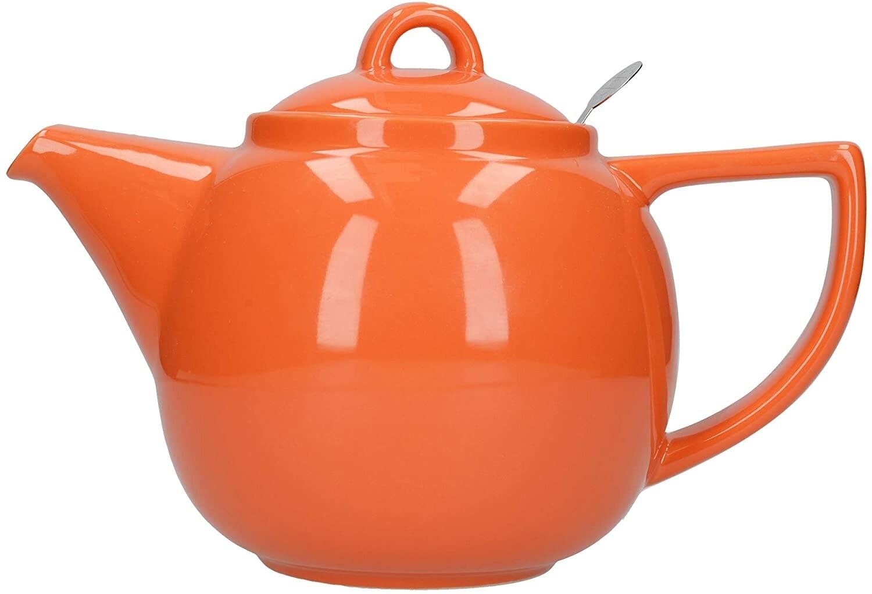 Now Designs Geo Filter Teapot 4-Cup | Orange