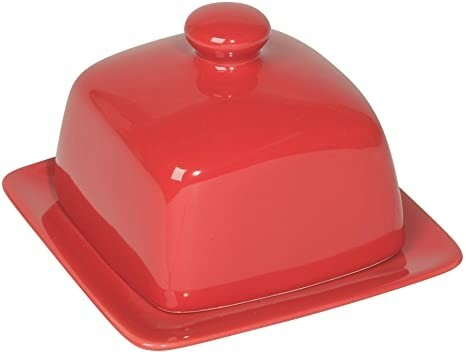 Now Designs Square Butter Dish | Red