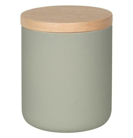 Now Designs Stoneware Canister | Matte Gray | Medium