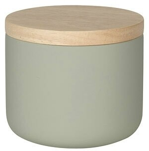 Now Designs Stoneware Canister   Matte Gray   Small