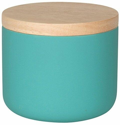 Now Designs Stoneware Canister | Matte Turquoise | Small