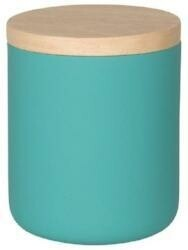 Now Designs Stoneware Canister   Matte Turquoise   Medium