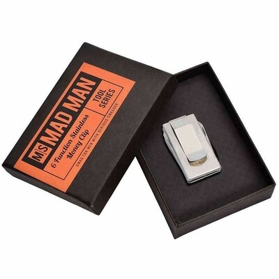 Mad Man 6 Function Stainless Money Clip