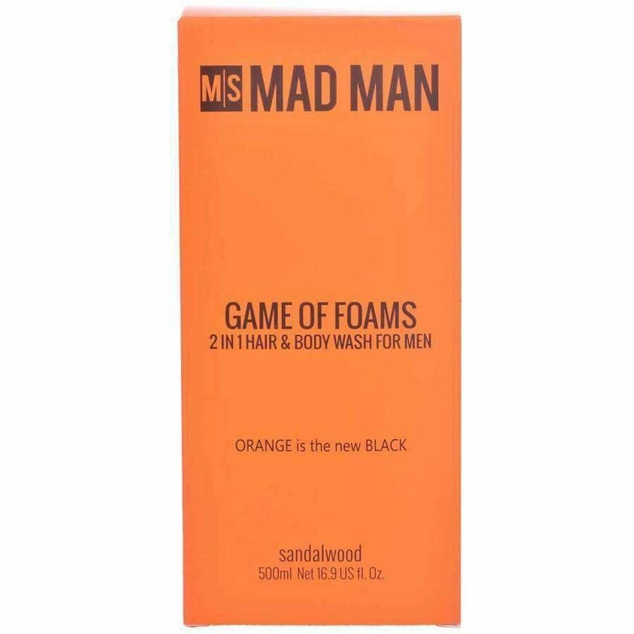 Mad Man Game of Foams 2 in 1 Hair & Body Wash
