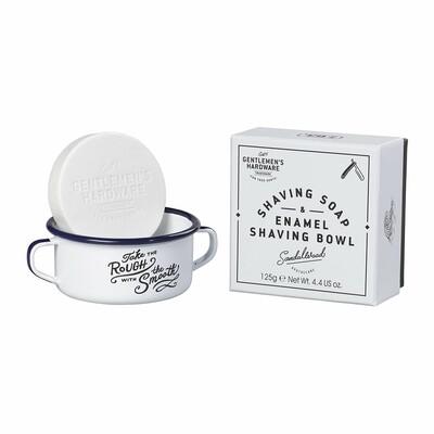 Gentlemen's Hardware Shaving Soap & Enamel Shaving Bowl Set