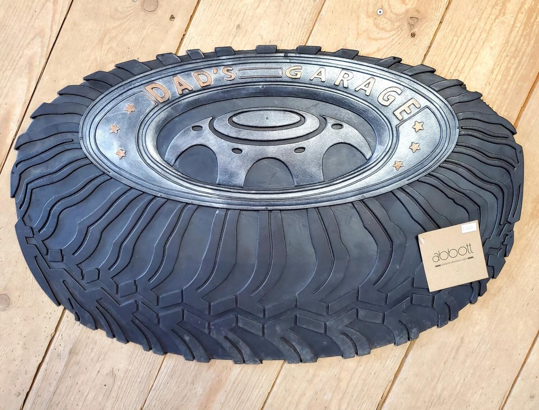 Rubber Dad's Garage Tire Doormat
