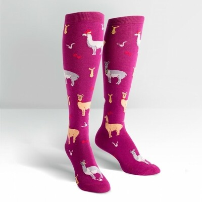 Sock It To Me - Women's Knee-high Socks | Llama Drama
