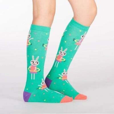 Sock It To Me - Youth Knee-high Socks   Hula Hoopin' Bunnies