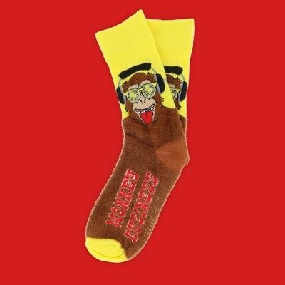 Two Left Feet - Super Soft! Fuzzy Socks (Small Feet)   Monkey Business