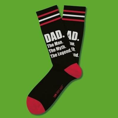 Two Left Feet - Everyday Socks (Big Feet) | Dad - Man Myth Legend