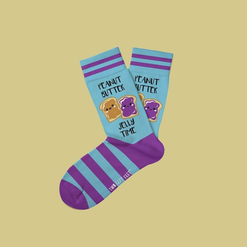 Two Left Feet - Everyday Socks (Big Feet)   PBJ Time