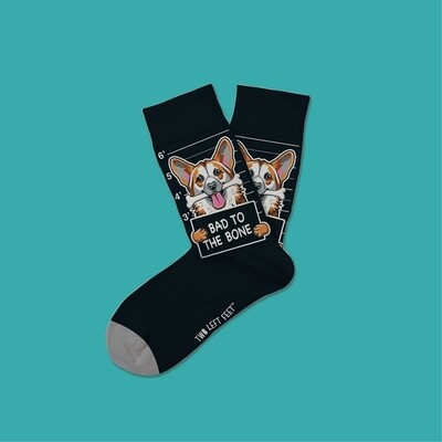 Two Left Feet - Everyday Socks (Small Feet)   Bad To The Bone
