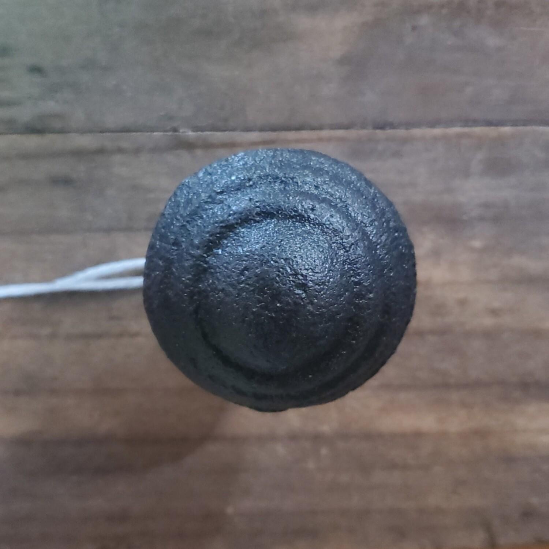 Antiqued Black Cast Iron Knob