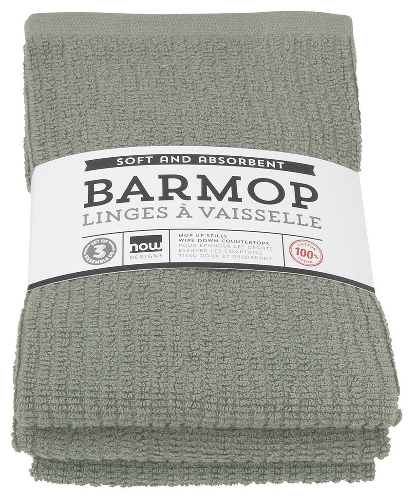 Now Designs Barmop Set of 3 | London Gray