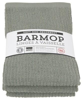 Now Designs Barmop Set of 3   London Gray