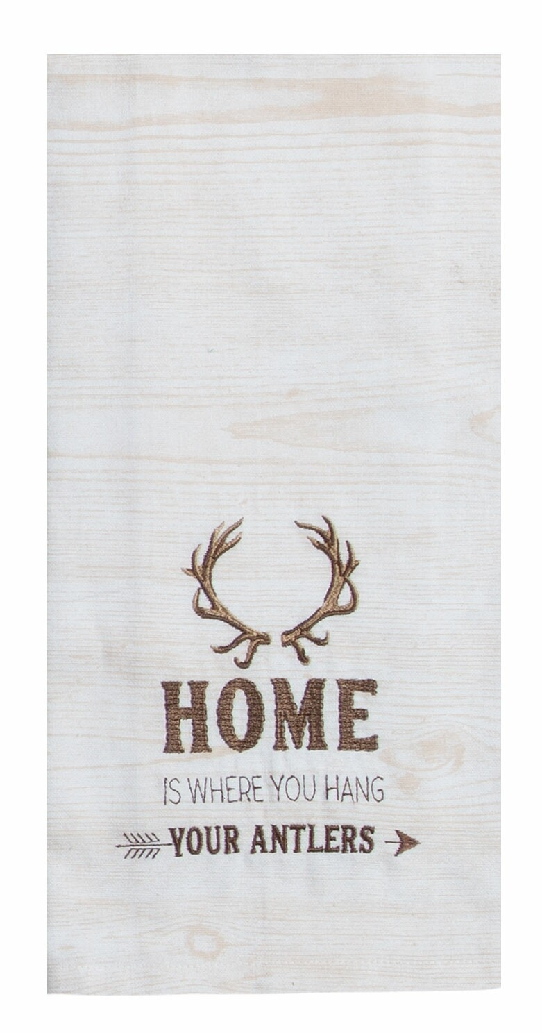 Kay Dee Designs Tranquility Lodge Tea Towel | Home is Where is Where You Hang Your Antlers