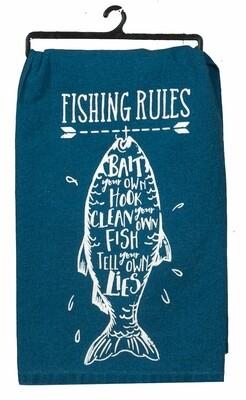 Kay Dee Designs Flour Sack Towel | Fishing Rules