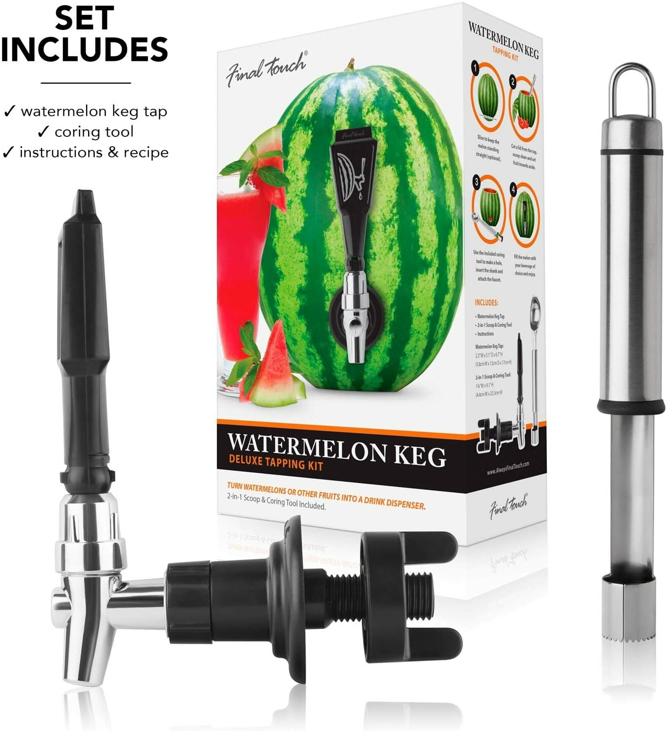 Final Touch | Watermelon Keg Deluxe Tapping Kit