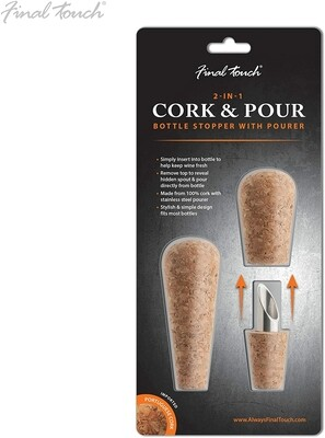 Final Touch   2-in-1 Cork & Pour Set