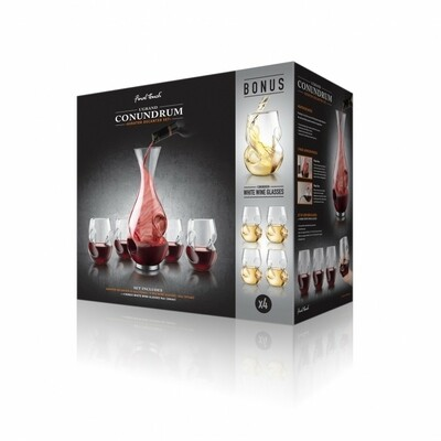 Final Touch   L'Grand Conundrum 9 pc Aerator Decanter Set