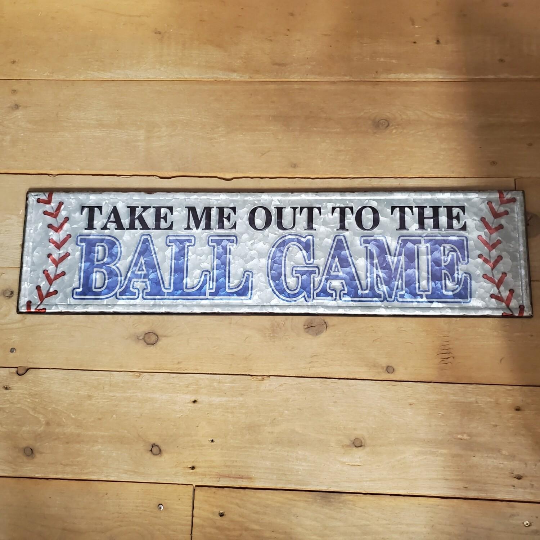 Tin Baseball Sign