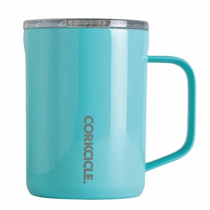 Corkcicle Coffee Mug | 16oz Gloss Turquoise