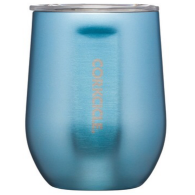 Corkcicle Stemless | 12oz Blue Metallic