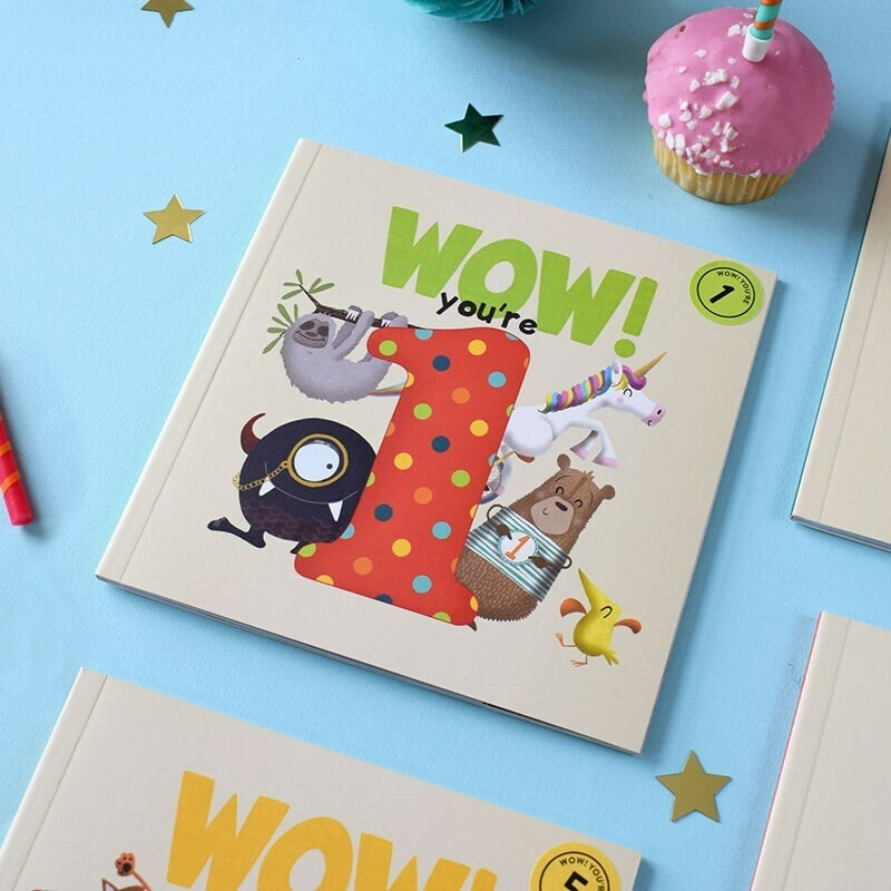 WOW! You're 1 - Birthday Card/Book