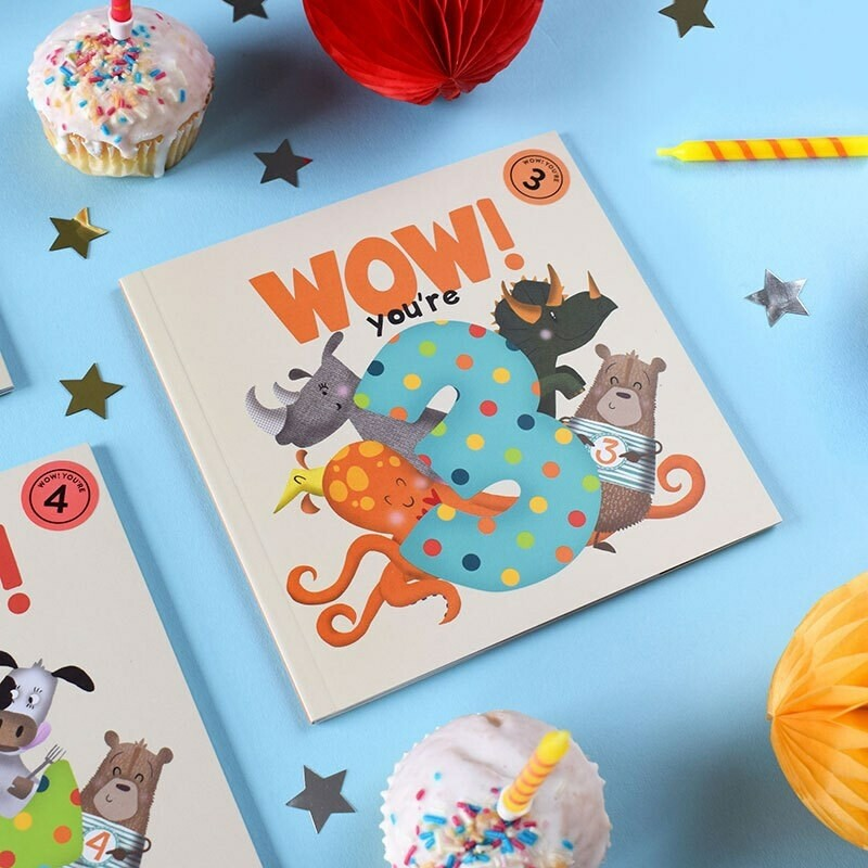 WOW! You're 3 - Birthday Card/Book