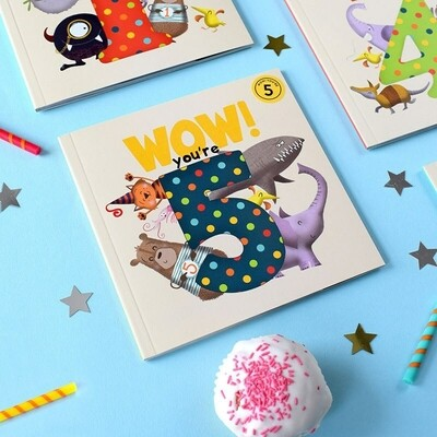 WOW! You're 5 - Birthday Card/Book
