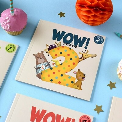 WOW! You're 2 - Birthday Card/Book