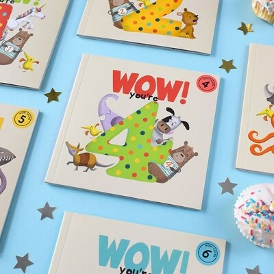WOW! You're 4 - Birthday Card/Book