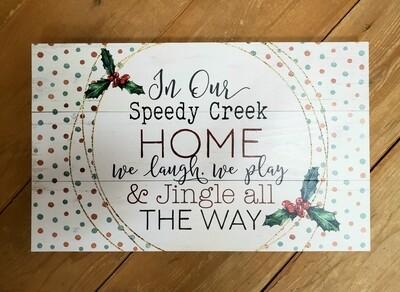 Speedy Creek Pallet Board Sign
