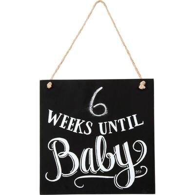 Chalk Sign - Weeks Until Baby
