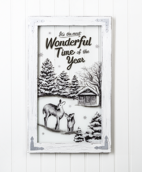 The Most Wonderful Time of the Year Window Plaque