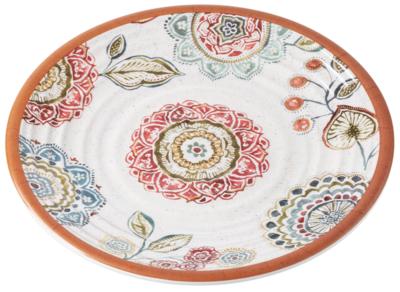 """10.5"""" Melamine Plate - Mandala"""