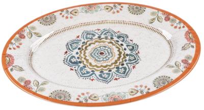 Melamine Oval Serving Platter - Mandala