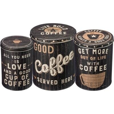 Tin Bins - Coffee