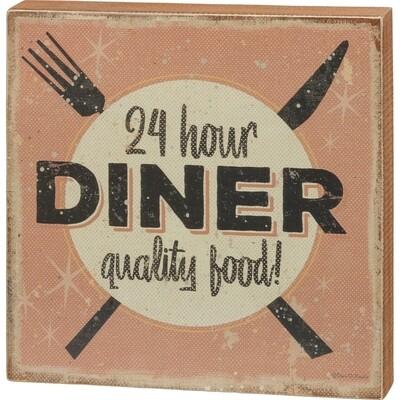 Box Sign - 24 Hour Diner