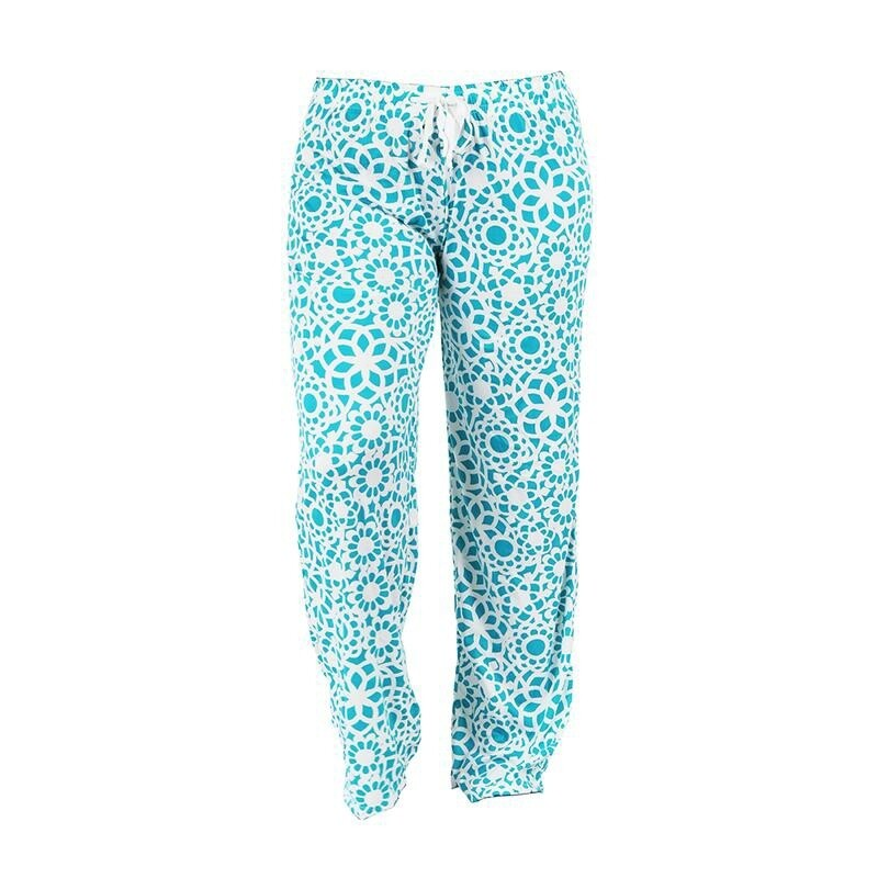 Hello Mello Leisure Time Lounge Pants | Tranquil Turquoise