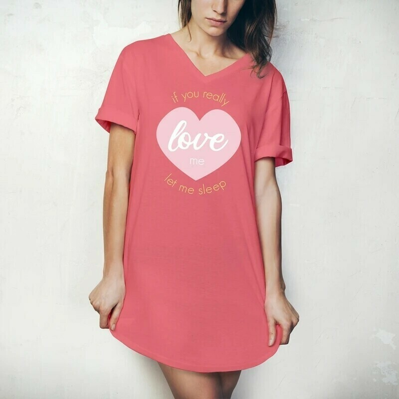 Hello Mello Sleep Shirt   If You Love Me Let Me Sleep