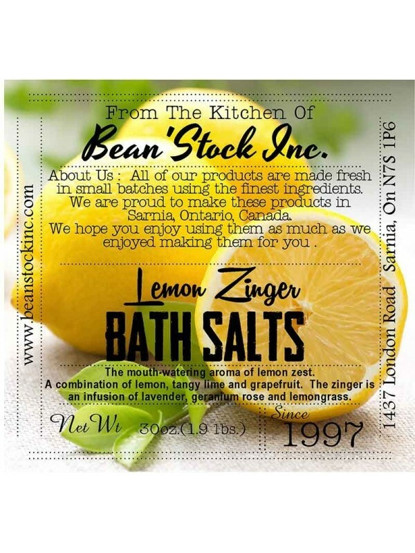 Bean'Stock Bath Salts   Lemon Zinger