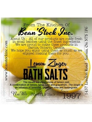 Bean'Stock Bath Salts | Lemon Zinger