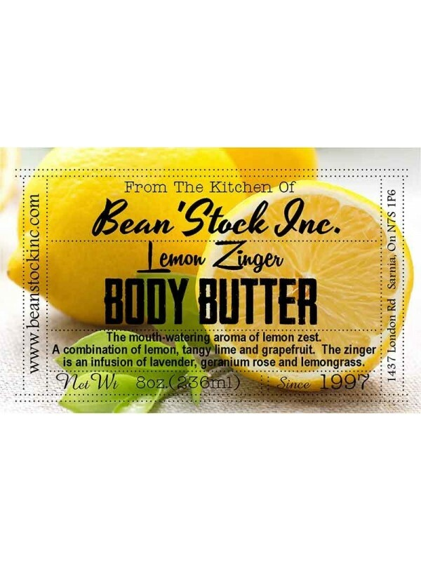 Bean'Stock Body Butter   Lemon Zinger