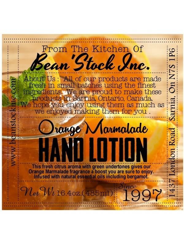 Bean'Stock Hand Lotion   Orange Marmalade