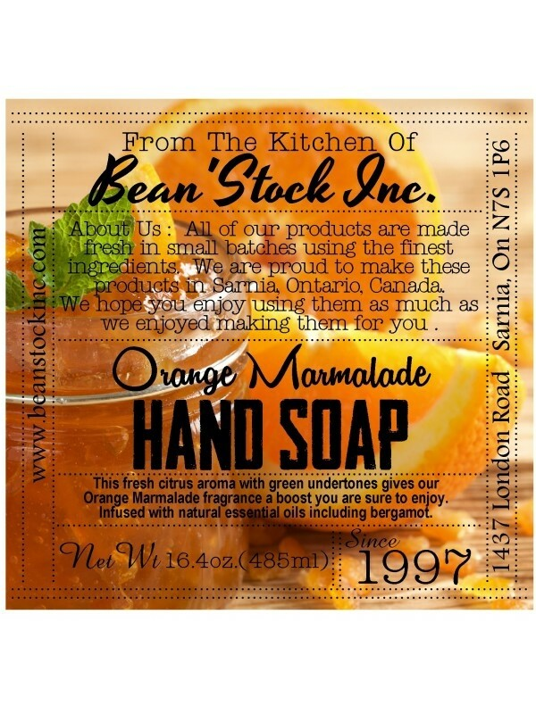 Bean'Stock Hand Soap | Orange Marmalade