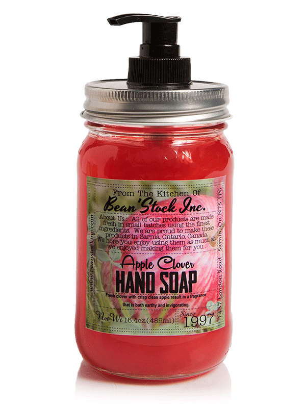 Bean'Stock Hand Soap   Apple Clover