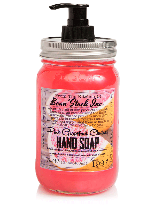 Bean'Stock Hand Soap | Pink Grapefruit Chutney