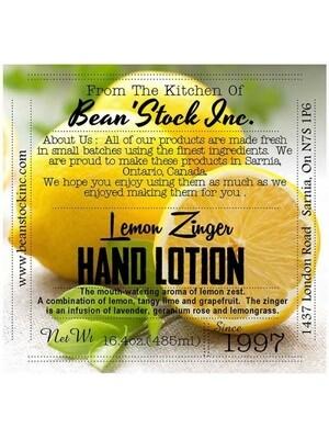 Bean'Stock Hand Lotion | Lemon Zinger